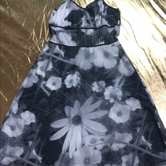 mica Dresses & Skirts - Mica pixilated dress spaghetti straps floral black
